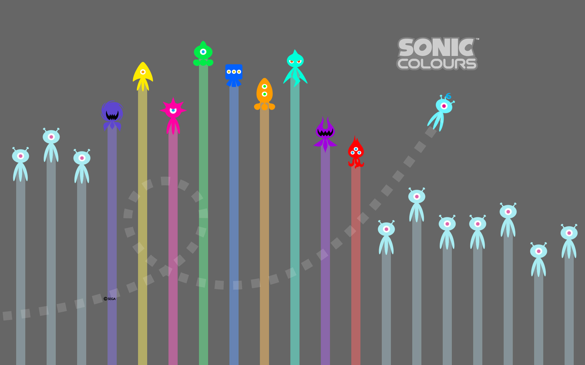 Sonic Colours Wallpaper, EU version