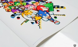 copyright line for Sonic the Hedgehog print by Paul Veer