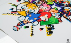 paul veer sonic the hedgehog print for SEGA