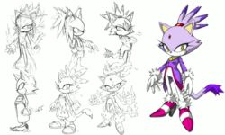 Blaze the Cat concept art
