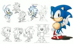 Classic Sonic concept art