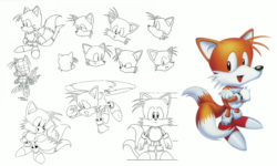 Classic Tails concept art