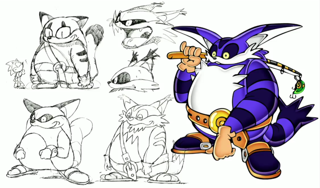 Never Before Seen Concept Art Of Sonic Characters Shown
