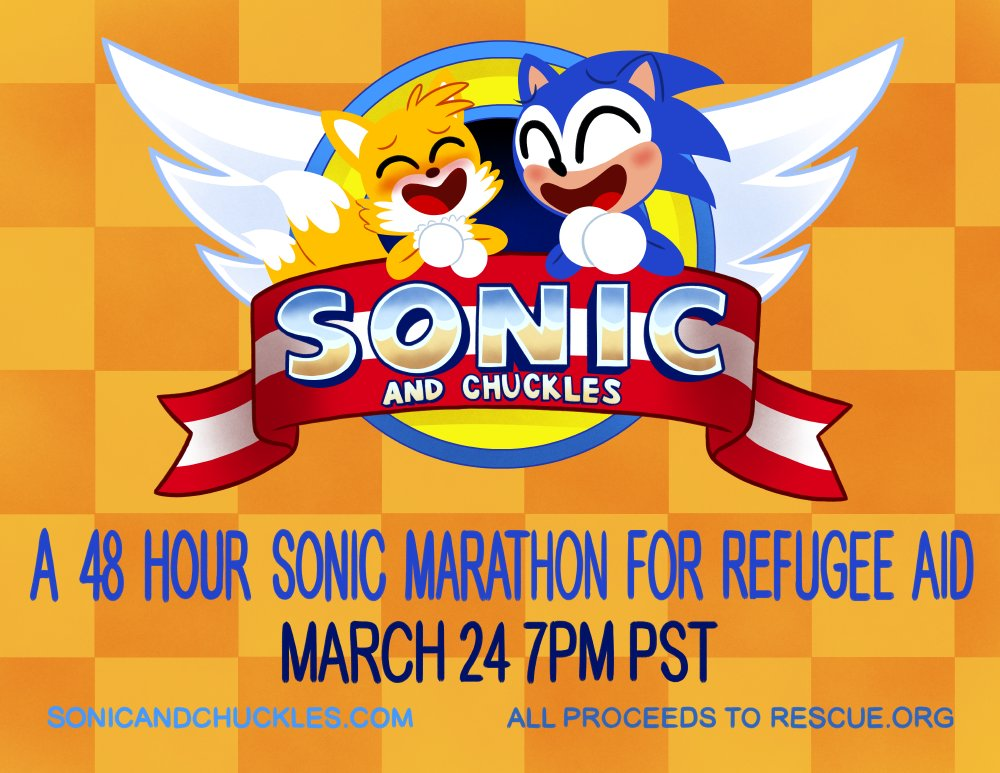 Sonic & Chuckles 48-Hour Charity Stream Benefits Refugee ...